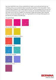 Bernina Block Party Fabric Chart Weallsew