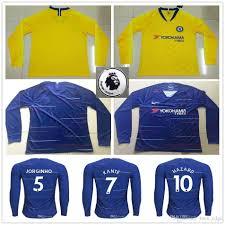 Best Football Jersey Design 2018 2018 2019 Long Sleeve Soccer Jersey Hazard Kante Jorginho Giroud Morata Willian Bakayoko Rudiger Custom Home Away 18 19 Football Shirt