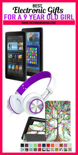electronic gift ideas for a 9 year old including tablets headphones and