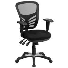 black desk chair. Dayville Mid-Back Mesh Desk Chair Black X