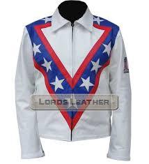 american icon daredevil evel knievel tribute leather fashion jacket