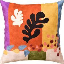 wool throw pillows. Modren Pillows Matisse Coral Decorative Pillow Cover CutOuts III Flower Accent Pillows  Wool Throw Cushions Hand Inside H