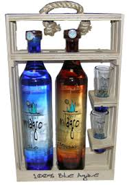 milagro 1 silver and 1 reposado with 2 shot gles tequila 750 ml gift set limited item