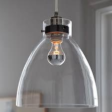 industrial pendant glass west elm regarding modern light inspirations 5