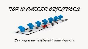 List Of Career Goals And Objectives