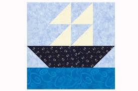 Sailboat Quilt Block Pattern in Two Sizes &  Adamdwight.com