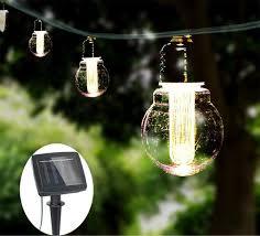 solar powered led string lights commercial grade outdoor hanging light