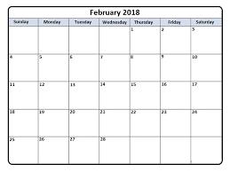 blank 2018 calendar february 2018 printable calendar template free printable