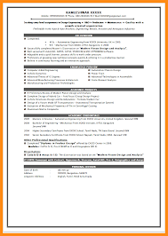 11 Sample Resume Format For Freshers Engineers Azzurra Castle