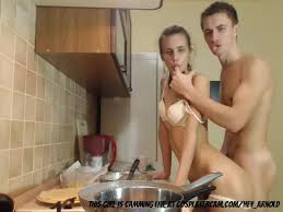 Russian couple porn kitchen