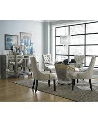 mirrorred furniture. Marais Round Dining Room Furniture Collection, Mirrored Mirrorred