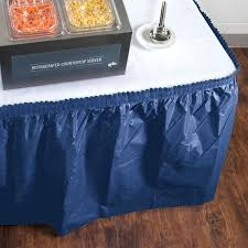 blue plastic tablecloth navy round