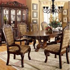Furniture of America Me ve Dining Set Collection Cherry Finish
