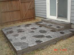 stained concrete patio before and after. Stamped And Stained Concrete Patio Before After