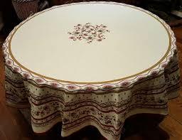 70 french cotton round tablecloth avignon cream