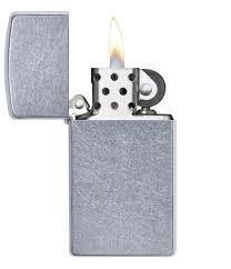 <b>Зажигалка ZIPPO Slim</b>® с покрытием Street Chrome™, <b>латунь</b> ...