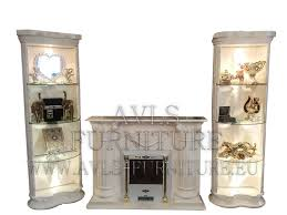 design luxury c12 wall unit l columns with shelves fireplace baroque style