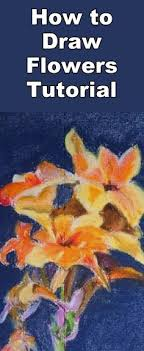 learn to draw canna flowers with this pastel drawing lesson drawing lessons drawing practice