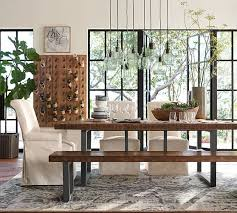pottery barn griffin reclaimed wood dining table reclaimed pine eco friendly pottery barn dining