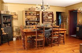 primitive country home decor with wall and furniture style safe