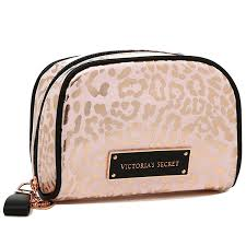victoria s secret gold leopard makeup bag vs cosmetic bag 11street msia purses