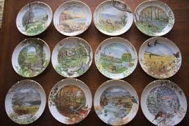 royal worcester porcelain peter barrett scenes of the english countryside 12 decorative collectors
