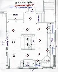 recessed lighting layout diagram