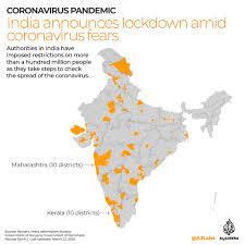 India locks down over 100 million people amid coronavirus fears   Coronavirus  pandemic News