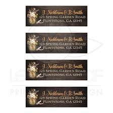 Personalized Return Address Labels With Yellow Florals And Mason Jar
