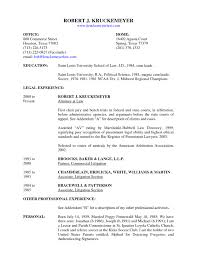 Sample Lawyer Resume Template Real Estate Attorney Sle S