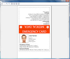 Emergency Card Template How To Print Emergency Card Goopatient