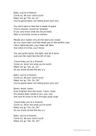 Rainbow A Light In The Black Lyrics Firework Kate Perrys Song Scrambled Lyrics English Esl