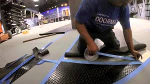 quick guide to installing rubber flooring using double sided tape you