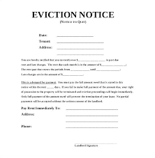 Free Eviction Notice Stunning Blank Eviction Notice Form Example Unconditional Quit Sample