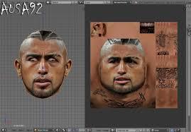 Facemaker Ausa92 Arturo Vidal Tattoo Full D Hdhttpiimgur