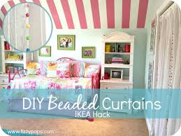 ikea girl bedroom makeover beaded curtains fizzy