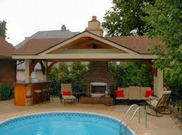 Wonderful Pool House Plans With Bar Designs For Beautiful Area Natural Stone Inside Creativity Ideas