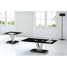 chrome glass end tables black side for living room chic and modern small chrome glass end tables
