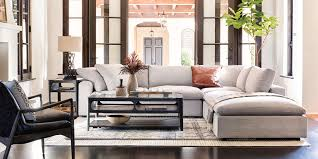 country rustic living room with haven sofa
