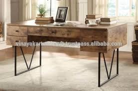 industrial metal wood office desk executive wooden wood executive desk e39