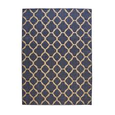 hampton bay trellis reversible cape cod blue 5 ft x 7 ft indoor