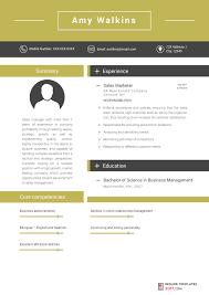 Marketing Resume Templates Inspiration Marketing Resume Template