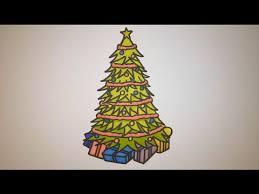 christmas tree with presents drawing. Modren Christmas How To Draw A Christmas Tree With Presents Step By In Drawing T