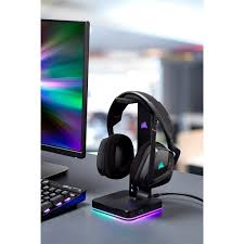 tm st100 rgb premium headset stand with 7 1 surround sound