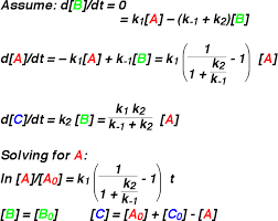 this simplification leads to ytical solutions to the rate equations