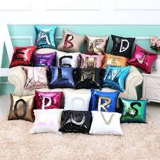 hot pink throw pillows hot mermaid sequin cushion pillow bedding magical pink throw pillowcase color