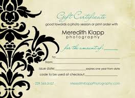 Gift Certificate Template Photography Whosonlineco Photography Gift