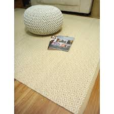flatweave wool rugs durrie beige cream diamonds