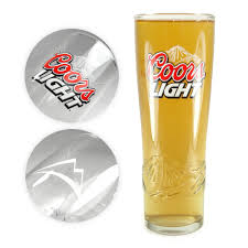 Coors Light Glass Details About Tuff Luv Coors Light Half Pint Beer Glass Barware Ce 236ml