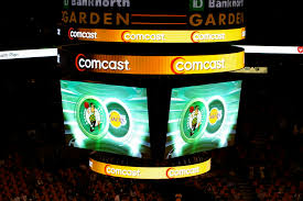 scoreboard at a celtics game vs the los angeles lakers at then td banknorth garden 2007